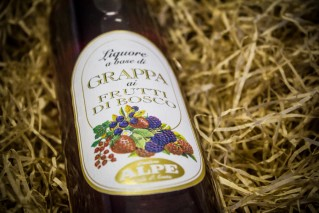 Fruits of the woods grappa liqueur Alpe