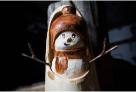 Sabot with snowman - Sculpture