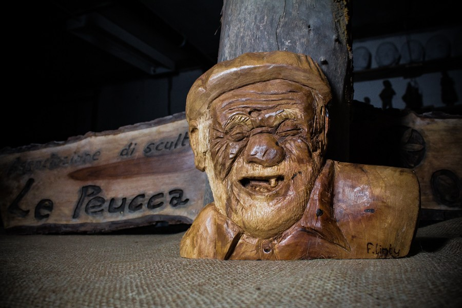 Old man laughting- Sculpture