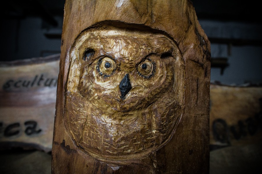 Hibou - Sculpture